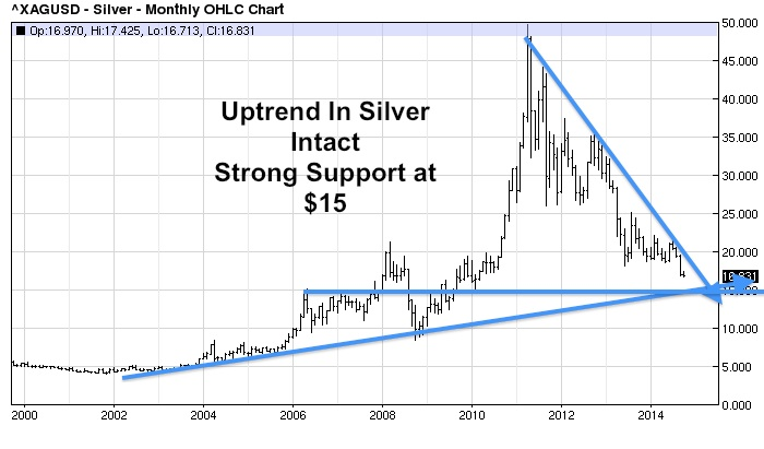 Gold And Silver Still In Major Uptrend On Long Term Charts